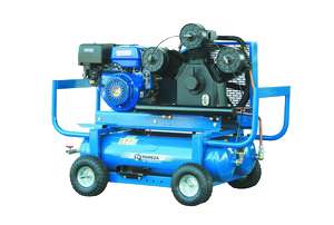 Compressor with gasoline engine